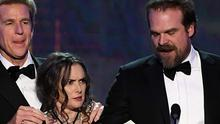 Winona Ryder pulled a series of bizarre facial expressions at the SAG Awards on Sunday night