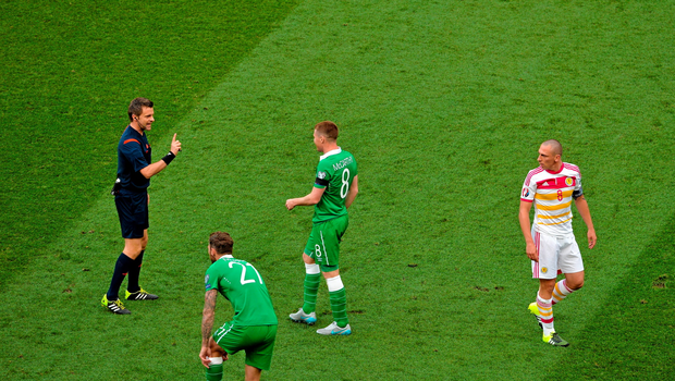 Nicola Rizzoli was in charge for Ireland's clash with Scotland in the qualifiers