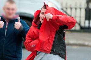 Christopher Tuohy arriving at Dublin Circuit Criminal Court yesterday
