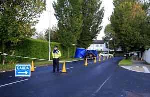 The scene of an overnight fatal stabbing on Loughlinstown Drive.  Picture; Gerry Mooney