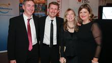 Conor Power, Pól Ó Conghaile,Deirdre Conroy and Madeleine Keane pictured at the 2014 Travel Extra Travel Writers Awards, sponsored by the Spanish Tourist Board. Picture: Arthur Carron