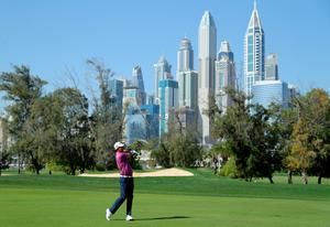 Padraig Harrington of Ireland during the third round of the Omega Dubai Desert Classic at Emirates Golf Club on January 30, 2021 in Dubai. (Photo by Warren Little/Getty Images)