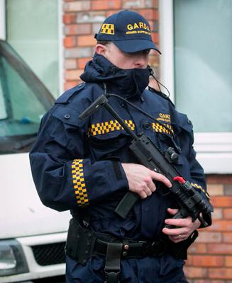 Members of the Gardai at the scene. Photo: Gareth Chaney / Collins