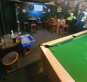 The shebeen had a pool table, smoking area and 70               inch television. Credit: An Garda Siochana