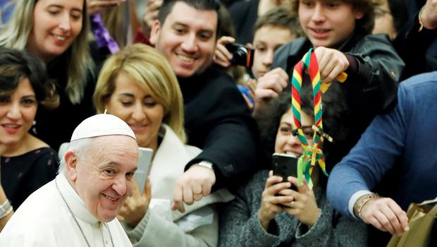 U-turn: Pope Francis greets people during the weekly general audience at the Vatican. Photo: REUTERS/Remo Casilli