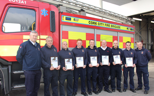 Members of Cork Fire Brigade honoured for rescuing horse