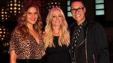 """LONDON, ENGLAND - AUGUST 27:   (L-R) Amanda Byram, Denise Van Outen and Gok Wan attend an after party celebrating the press night performance of """"Some Girl I Used To Know"""" at the Hippodrome Casino on August 27, 2014 in London, England.  (Photo by David M. Benett/Getty Images)"""