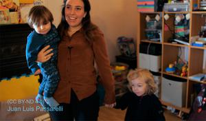 Family:Stella Moris,the partner of Julian Assange with their sons Gabriel and Max. Photo credit should read: Juan Luis Passarelli/PA Wire