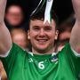 Defence of the realm: Limerick captain Declan Hannon lifts the Allianz NHL Division 1 trophy after last year's final victory over Waterford. Photo: Sportsfile