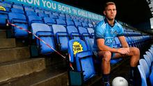 Sitting pretty: Jonny Cooper in Parnell Park yesterday as AIG launched the 2020 county season with a tribute to club volunteers. Photo: Sportsfile
