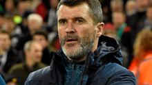 Roy Keane awaits the kick-off of Ireland's friendly against the USA. Photo: David Maher / SPORTSFILE