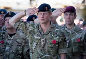 Prince Harry served in the army for ten years.
