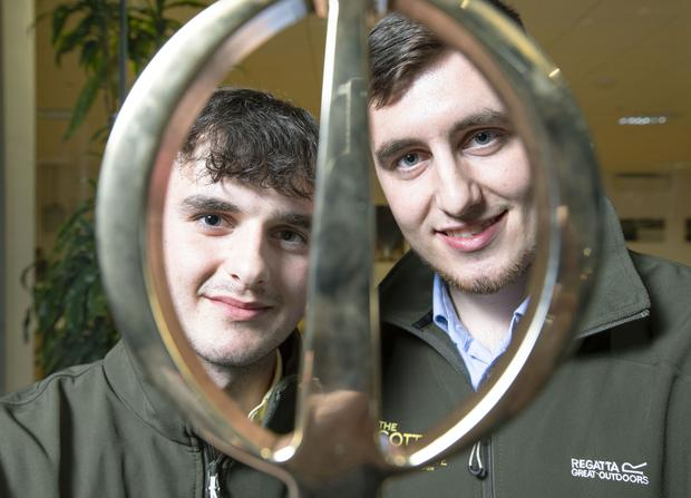 Limerick brothers Nick and Jack Cotter have been awarded the Engineers Ireland Innovative Student Engineer of the Year Award 2019, sponsored by Siemens.  Pic Peter Houlihan SON Photo