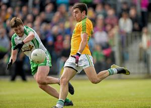 Offaly gave away numerous needless frees and Kevin Conlan was on hand to kick five placed balls in succession, from all angles and distances, with his fifth putting his side a point up with five minutes to go.
