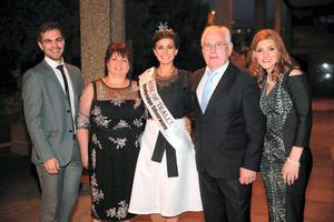 Rose of Tralee Maria Walsh with her parentsVincent and Noreen, sister Eileen and brother Mikey  pictured at the Late Late Show at RTE in Dublin. Picture:Arthur Carron