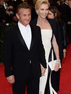 """Sean Penn and Charlize Theron attend the """"Charles James: Beyond Fashion"""" Costume Institute Gala held at the Metropolitan Museum of Art"""