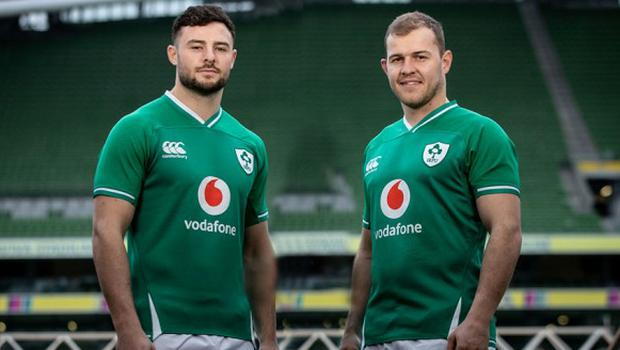 (l-r) Robbie Henshaw and Will Addison are both in contention for a central role against Wales on Saturday