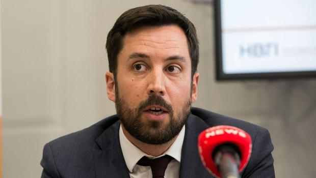 Housing Minister Eoghan Murphy said that while the number of people in crisis is 'unacceptably' high, the latest reduction is a move in the right direction. Photo: Gareth Chaney, Collins