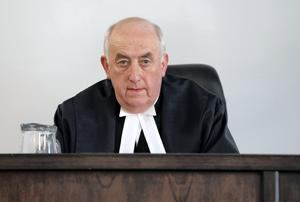 Send off: Mr Justice Peter Kelly at the first sitting of the new Court of Appeal at court 29 in the Four Courts in 2014. Photo: Frank Mcgrath