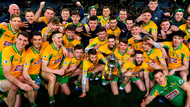 Corofin players celebrate after the AIB GAA Football All-Ireland Senior Club Championship Final after beating Kilcoo at Croke Park