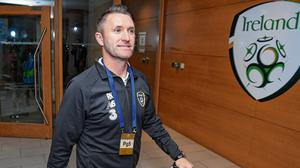 Muddy waters: Robbie Keane's absence from the management team has cast an unwanted cloud over the start of Stephen Kenny's tenure. Photo: Stephen McCarthy/Sportsfile