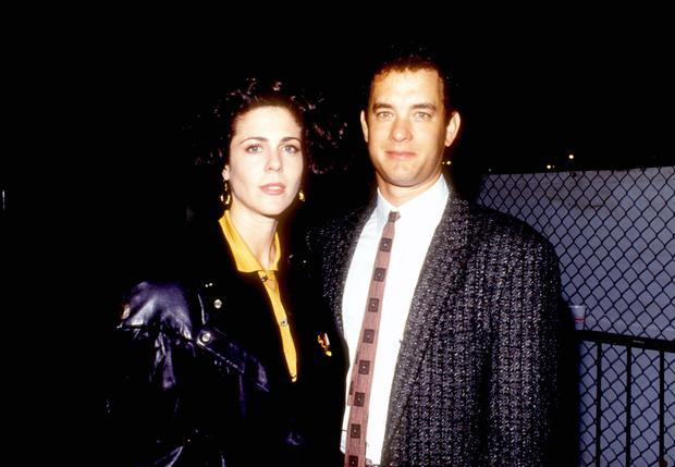 Rita Wilson and Tom Hanks pictured in 1980