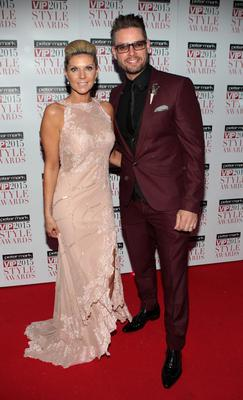 Lisa Duffy and Keith Duffy tonight  on the Red Carpet at The Peter Mark VIP Style Awards 2015 at The Marker Hotel,Dublin. Pictures Brian McEvoy