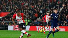 Michael Obafemi in action for Southampton. Photo: REUTERS