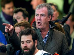 Jeremy Clarkson at the Champions League match between Chelsea and Paris Saint-Germain at Stamford Bridge last night