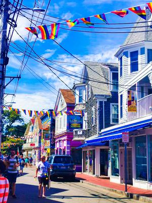 Main street in Provincetown, Massachusetts. Picture: Caitlin McBride