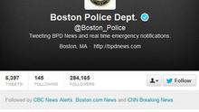 A screen grab from the Boston Police twitter page shows their message following the capture of suspected bomber Dzhokhar Tsarnaev