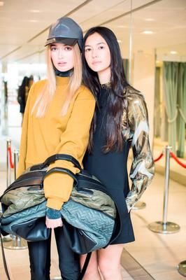 Aoibhinn Helly & Li Ann Small at the H&M Studio AW 15 pre launch shopping event at the College Green Store, Dublin. Photo: Anthony Woods.