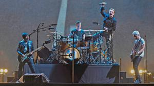 U2 performing in the Joshua Tree Tour 2017 in Tampa, Florida, last month