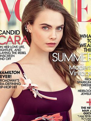 Cara Delevingne covers US Vogue's July 2015 issue