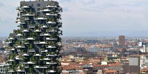 Il Bosco Verticale (Vertical Forest) in Milan is a fully sustainable, ecological urban living system.
