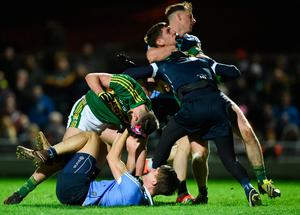 Dublin and Kerry had a few heated exchanges off the ball when they met in league action back in mid-March. Photo: Sportsfile
