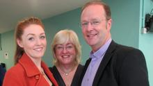 Voice star Lucy O'Byrne with parents Carol and Jimmy