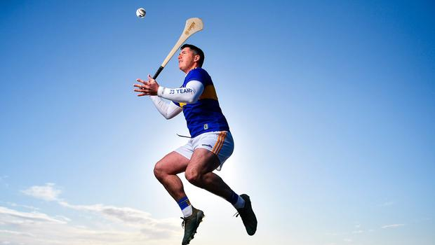 Tipperary hurler John 'Bubbles' O'Dwyer at the annoucement of Allianz's five-year extension of its sponsorship of the football and hurling leagues. Photo: Brendan Moran/Sportsfile
