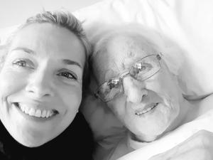 Laura Hennessy with her grandmother Loretta Dooley.