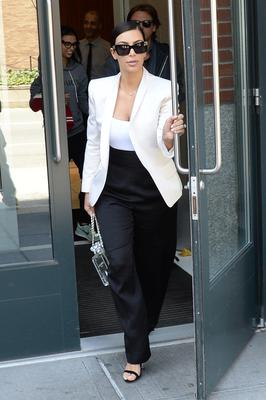 Kim Kardashian is seen walking in Soho on May 5, 2014 in New York City.  (Photo by Raymond Hall/GC Images)