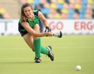 First Michelle Harvey found the net at a penalty corner with 10 minutes to go and then Chloe Brown hit the second