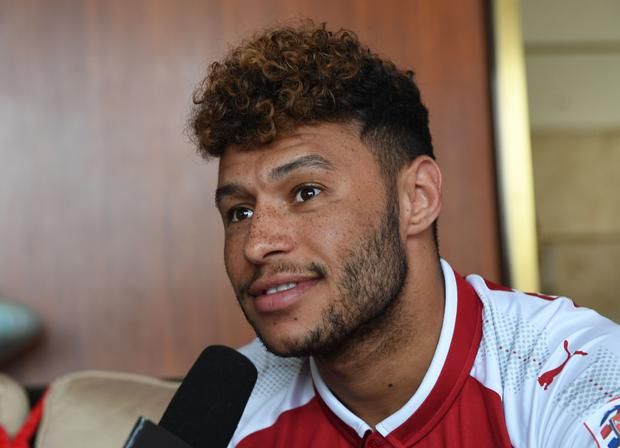 Alex Oxlade-Chamberlain of Arsenal takes part in a chinese cooking event for Emirates on July 21, 2017 in Beijing, China. (Photo by Stuart MacFarlane/Arsenal FC via Getty Images)