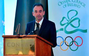 Stephen Martin, Chief Executive, Olympic Council of Ireland, during the Olympic Council of Ireland EGM at the Conrad Hotel in Dublin. Photo by Brendan Moran/Sportsfile