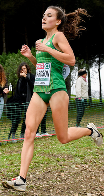 Aoibhe Richardson in action in Portugal. Photo: Sportsfile