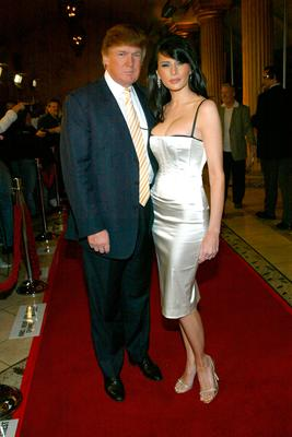 Donald Trump and Melania Knauss attend the 2004 NBC Winter Press Tour All-Star Party at the Highlands on January 14, 2004 in Hollywood, California.