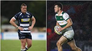 Jack O'Connell (left) during his time at Bristol and Peter Lydon in action for Ealing Trailfinders.