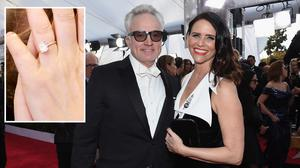 LOS ANGELES, CA - JANUARY 21:  Actors Bradley Whitford (L) and Amy Landecker attend the 24th Annual Screen ActorsGuild Awards at The Shrine Auditorium on January 21, 2018 in Los Angeles, California.  (Photo by Kevork Djansezian/Getty Images)
