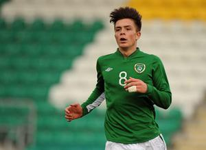 Jack Grealish in action for the Republic of Ireland under-21s