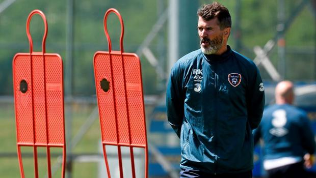 Republic of Ireland assistant manager Roy Keane during squad training. Republic of Ireland Squad Training, Gannon Park, Malahide, Co. Dublin. Picture credit: David Maher / SPORTSFILE