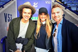 Ronan Keating and his girlfriend Storm with Harry Styles at the charity match
